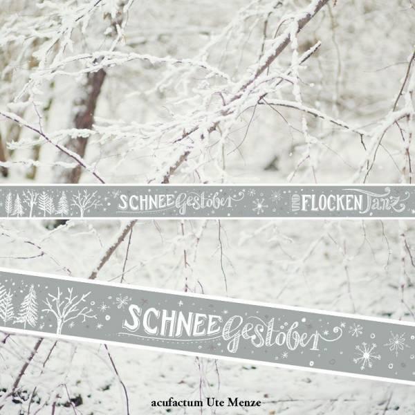 Webband Schneegestöber-Flockentanz