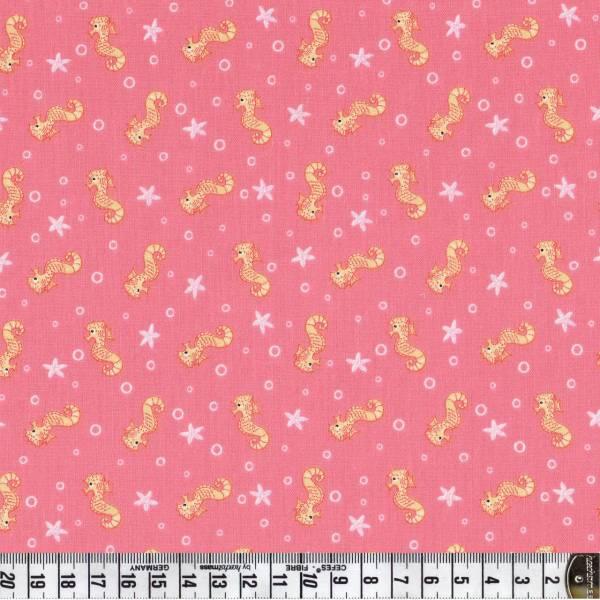 Merryn Seepferdchen rosa - Patchworkstoff