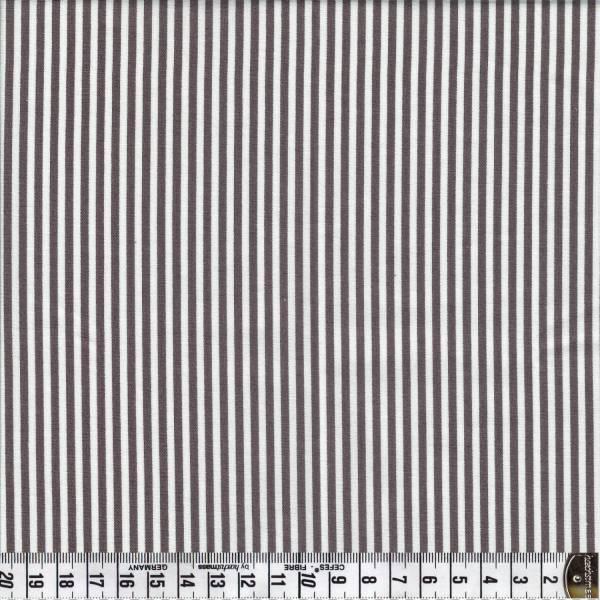 Streifen - Weiß - Braun - Patchworkstoff
