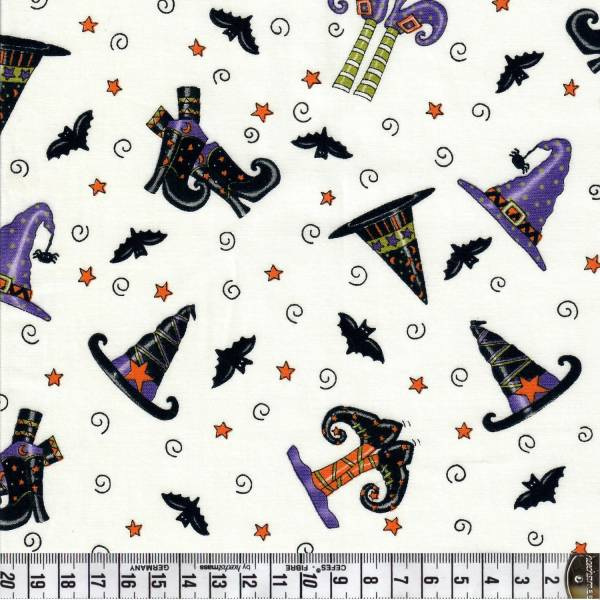 Trick or Treat - Halloween - Hut - Schuhe - weiß - Moda