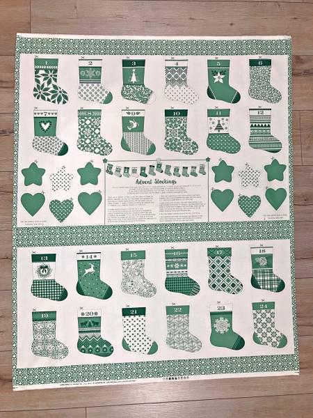 Merry Merry - Panel - Adventskalender - grün
