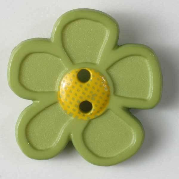 Knopf - grün - 20 mm
