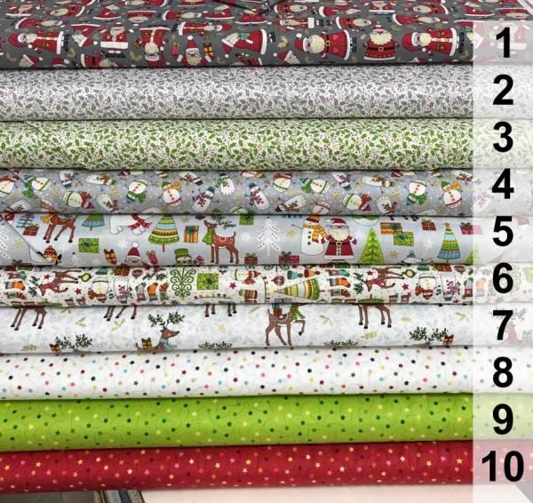 Festive - Weihnachtsstoff - Stoffserie - Meterware