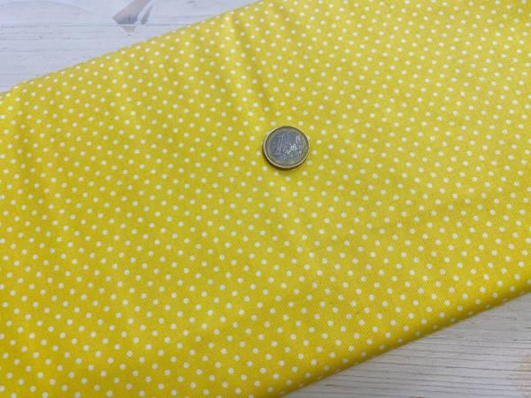 Punkte - gelb - Patchworkstoff