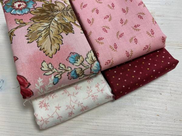 Stoffpäckchen - Super Bloom - rosa - 4 Fat Quarter