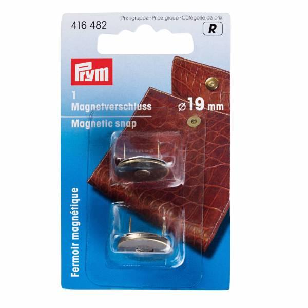 Magnetverschluss - Altmessing - Ø 19 mm