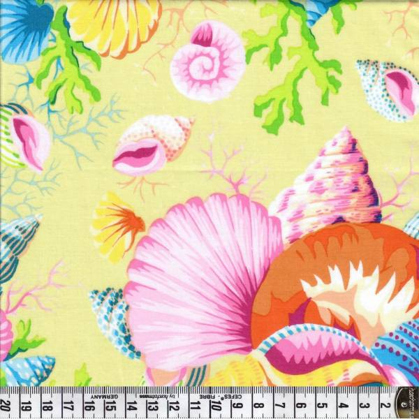 Shell Bouquet - Gelb - Patchworkstoff