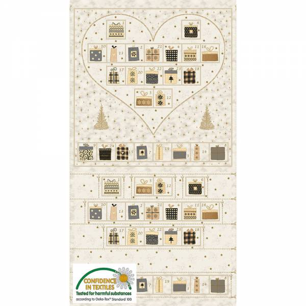 Adventskalender Panel Herz Creme