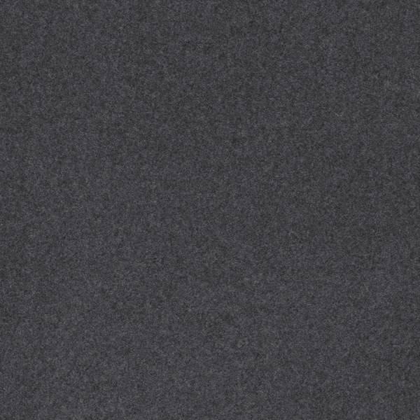 Baumwolle Fleece - Cassy - meliert anthrazit