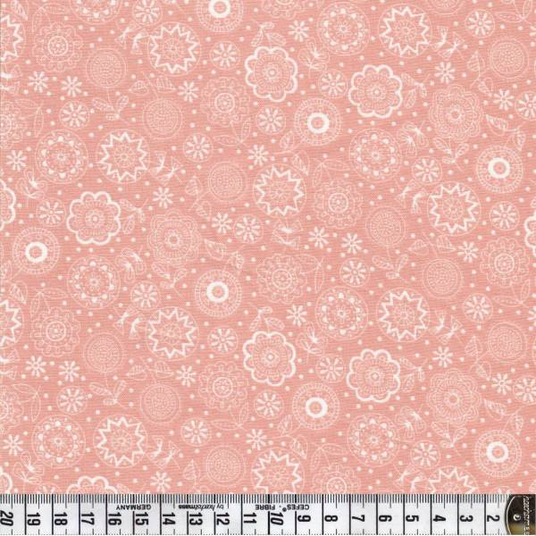 Doodle DaysTonal Flowers - Rosa - Patchworkstoff