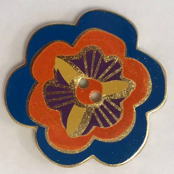 """Dekoknopf """"Blume"""" - bunt - 35 mm"""