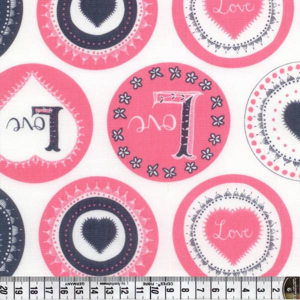 Love Letters - Buttons - weiß