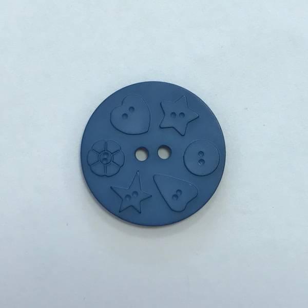 Großer Modeknopf - blau - 30 mm