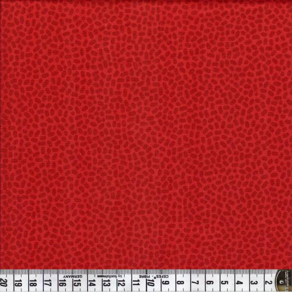 Speckles - feuerrot - Patchworkstoff