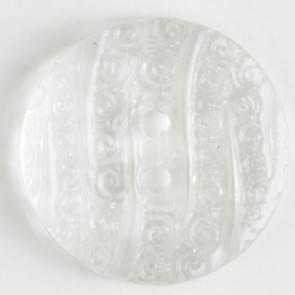 Modeknopf - weiß - durchsichtig - 18 mm