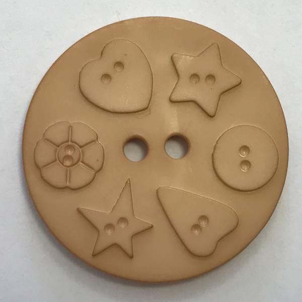Großer Modeknopf - beige - 30 mm