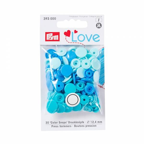 Color Snaps - Druckknöpfe - 30 Stück - blau