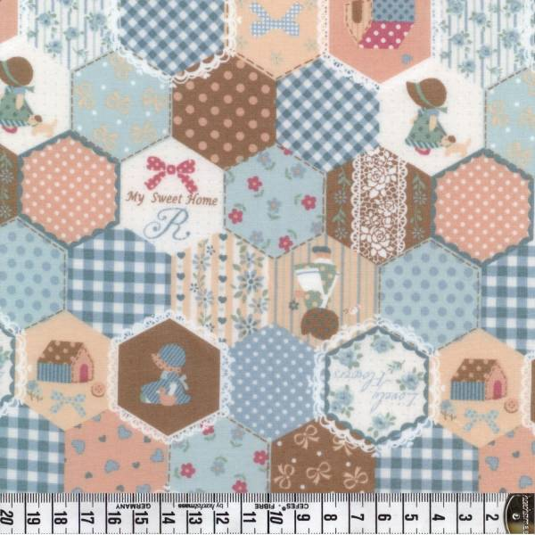 Country Home - Hexagon hellblau