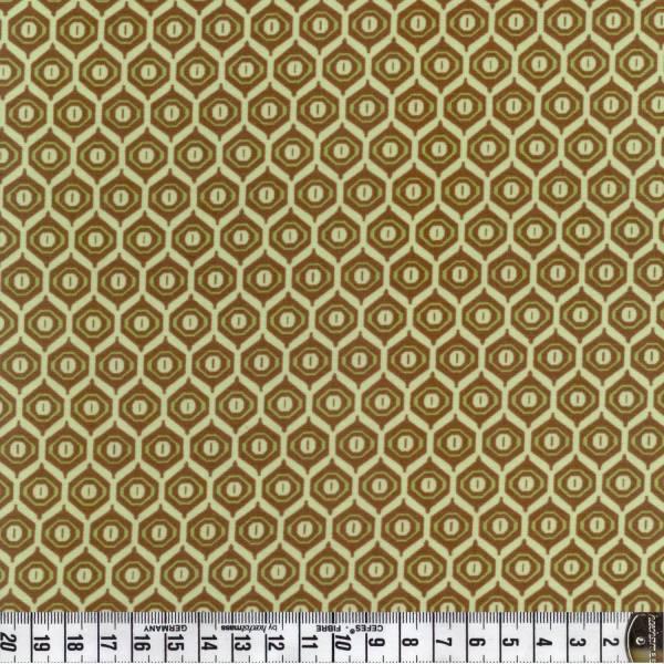 Orientalisches Muster in grün-braun - Marrakesh