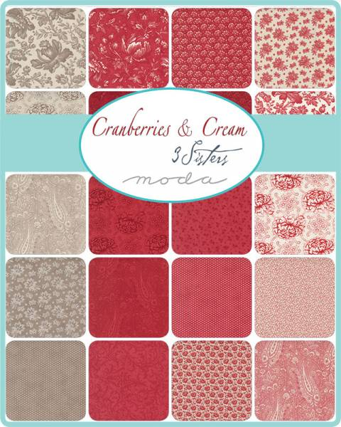 Charm Pack - Cranberries and Cream - 3 Sisters