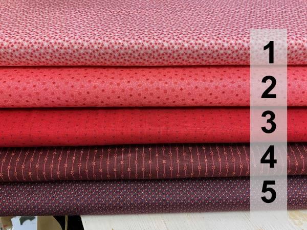 Kleine Muster - rot - rosa - Meterware