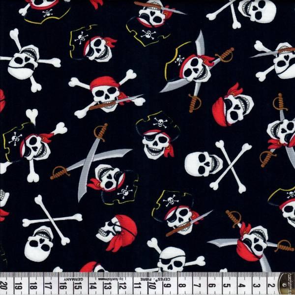 Piraten und Totenköpfe - Fun - Patchworkstoff
