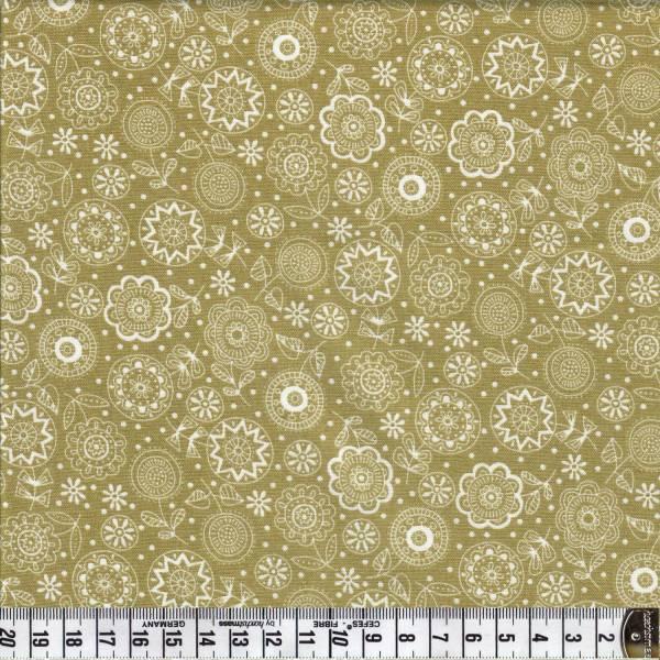 Doodle DaysTonal Flowers - Grün - Patchworkstoff