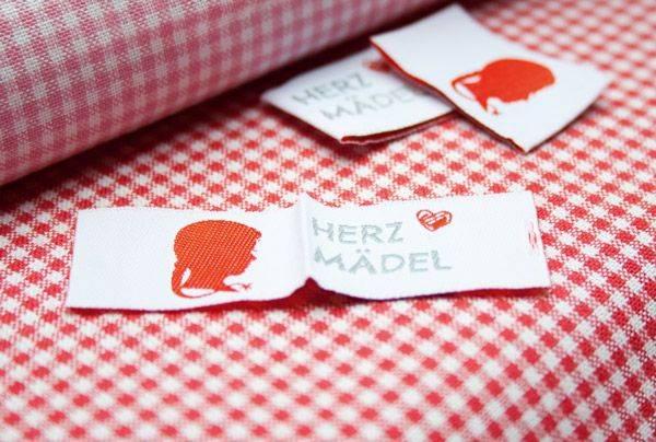 Webetikett - Label - Herz Mädel