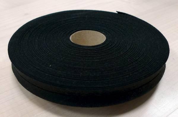 Schrägband - uni schwarz