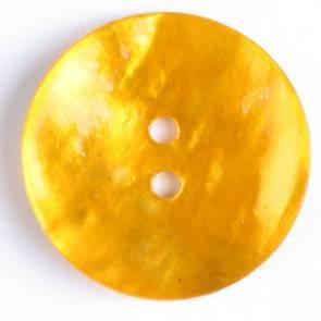 Echter Perlmuttknopf - gelb - 23 mm