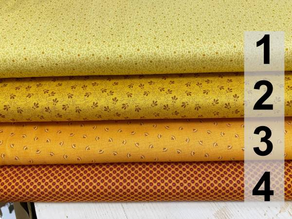 Kleine Muster - gelb - orange - Meterware