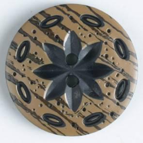 Modeknopf - braun - 30 mm