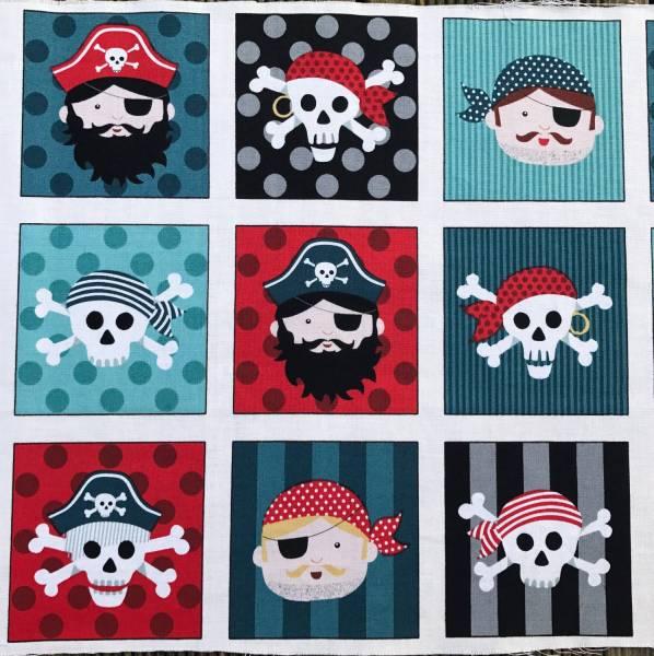 Pirates - Label - Bilderstoff - Patchworkstoff