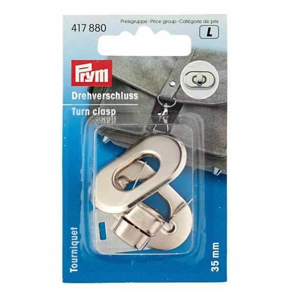 Drehverschluss für Taschen - Silberfarbig