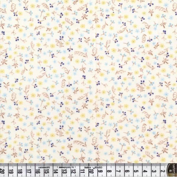 Perch - Blumenstoff - weiß - Patchworkstoff