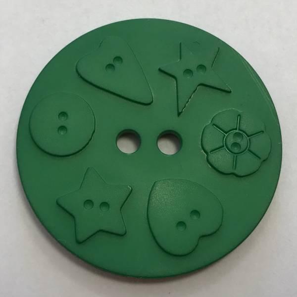 Großer Knopf - grün - 30 mm
