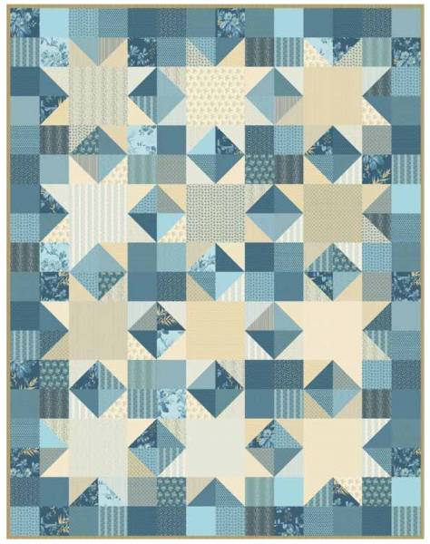 Something Blue - Quiltpackung - Materialpackung - Quilt