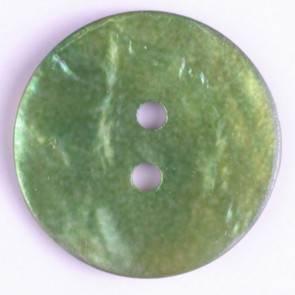 Echter Perlmuttknopf - grün - 23 mm