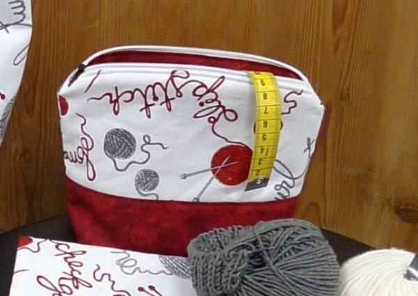 Materialpackung - Schlampertäschchen mit Foto Nähanleitung