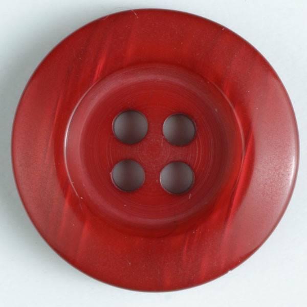 Knopf - rot - Perlmuttoptik - 20 mm