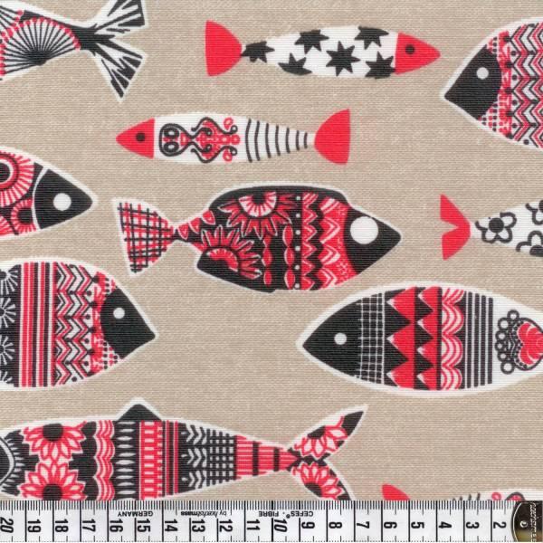 Fische - rot - Wachstuch