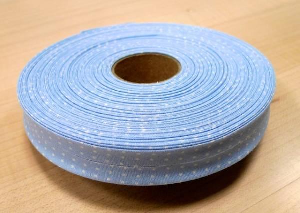 Schrägband - hellblau - Punkte