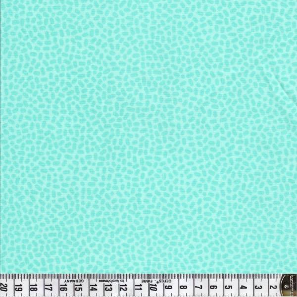 Speckles - helltürkis - Patchworkstoff