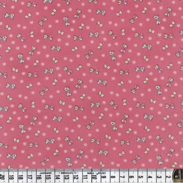 Altrosa - rosa - Schleifen - Quilters Basics - Patchworkstoff