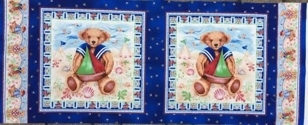 Teddy - Strand - Panel - Bilderstoff - Kinderstoff
