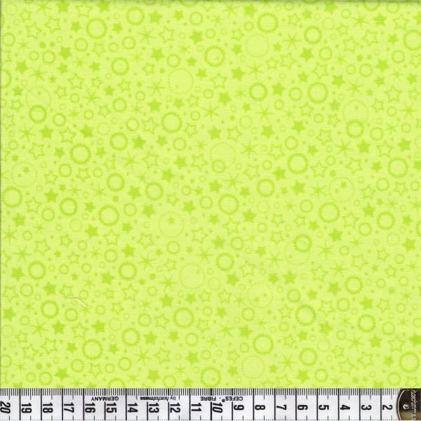 Punkte und Sterne - hellgrün - Patchworkstoff