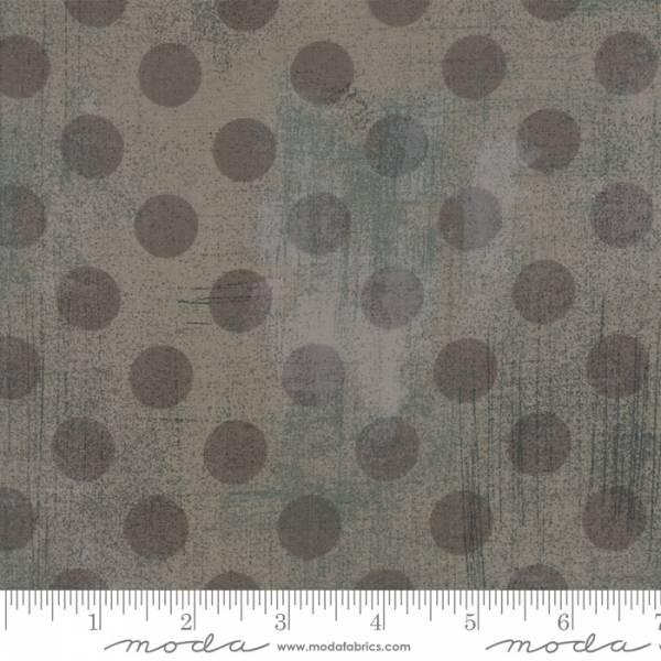 """Grunge Punkte - Überbreit - grau - 108"""" / 274 cm Breit"""