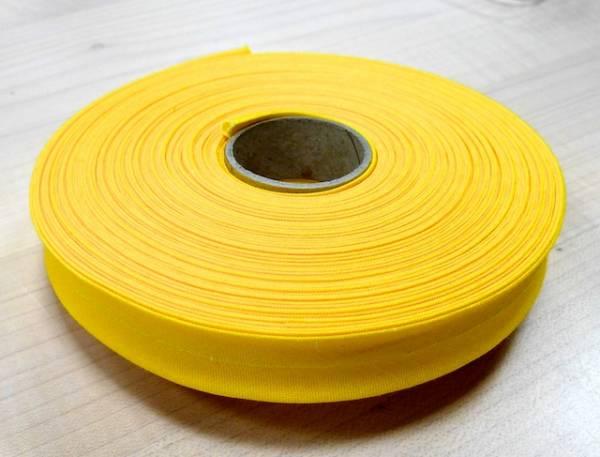 Schrägband - uni gelb