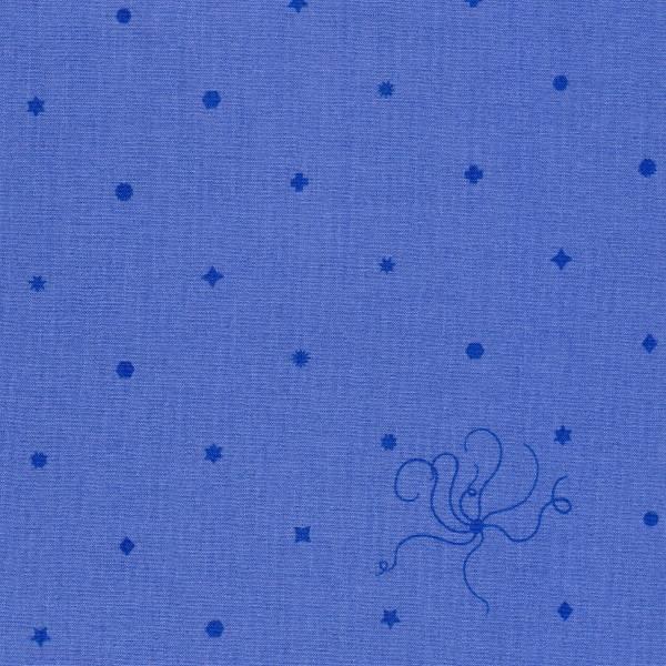 Sun Print 2018 - Alison Glass - Diatom und Sternsymbole - blau/lila - Patchworkstoff