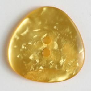 Knopf - Perlmuttoptik - gelb - 25 mm